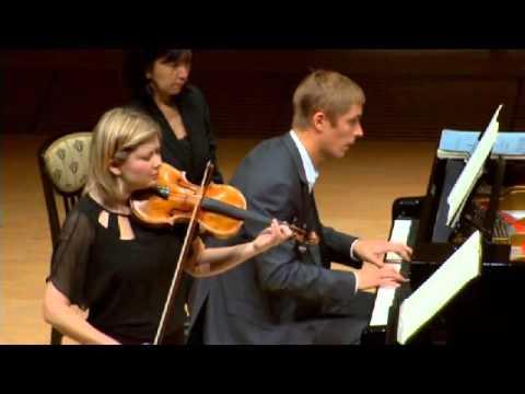 Alina Ibragimova & Cédric Tiberghien - extract from Mozart Sonata in B flat, Kv10