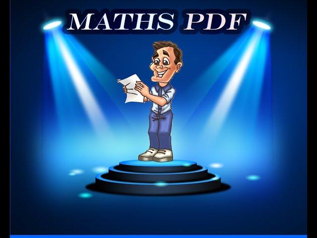 Maths PDF : créer, télécharger vos exercices de maths en PDF.