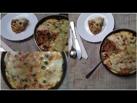 How to make lasagna in a pan at home!! wheat flour vegetable lasagna!! roti lasagna
