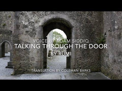 Rumi Poem English Talking Through The Door Youtube