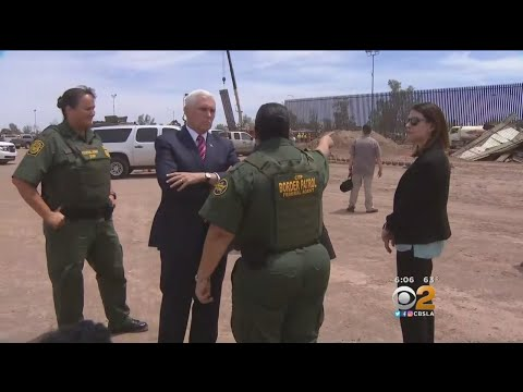 VP Mike Pence Tours Border Wall, Holds Roundtable In Beverly Hills