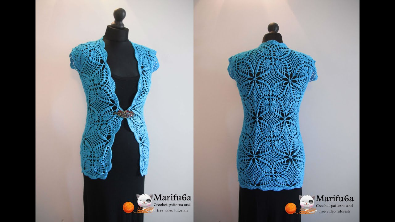 Crochet Jacket : How to crochet cardigan jacket chaleco free pattern tutorial by ...