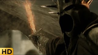 Насгул ломает посох Гэндальфа. Властелин колец: Возвращение короля.