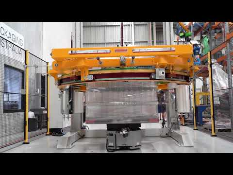 LD-250 autonomous mobile robot from OMRON in a pallet wrapping application