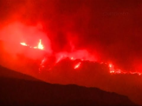 Raw: Cooler Weather Helps Calif. Wildfire Fight