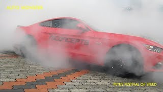 FORD MUSTANG GT COBRA BURNOUT || PETE'S FESTIVAL OF SPEED 2018 || TUNED Ni-CONCEPTS