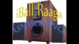 iBall Raaga 2 1 Q9 - Full Wood Speakers - Unboxing