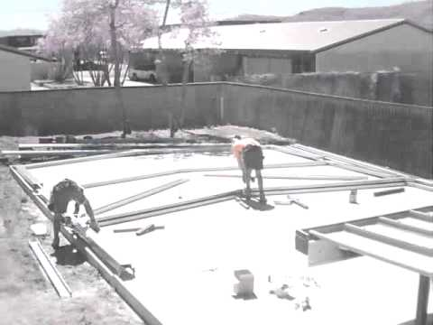 Shed 3 - Erecting the Frame - YouTube