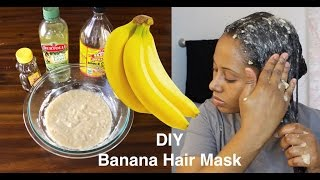 Fix Damaged Hair Instantly Banana Hair Mask