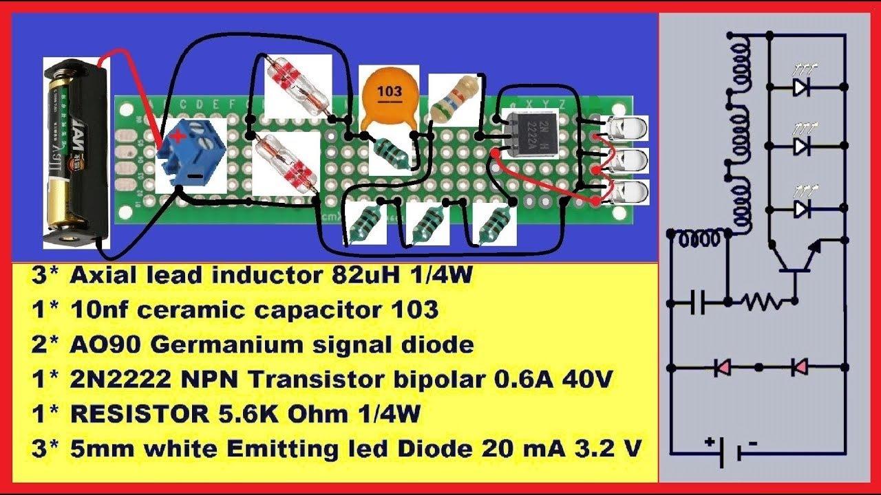 5 watt led driver circuit diagram brain sagittal view joule thief 31 wiring images