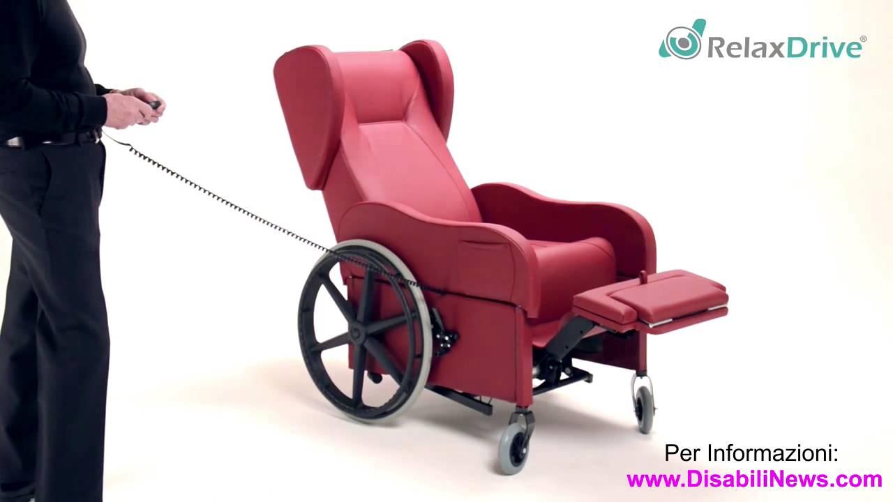 Poltrona Con Ruote.Rivoluzionaria Poltrona Relax Con Ruote Per Anziani E Disabili