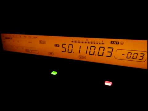 3B8DB from Mauritius on 50 MHz CW