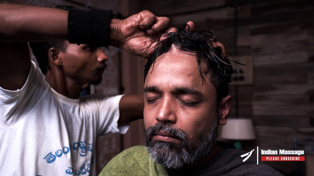 Master Cracker Dandruff Treatment Lemon and Coconut oil Head and Scalp Massage   Indian Massage