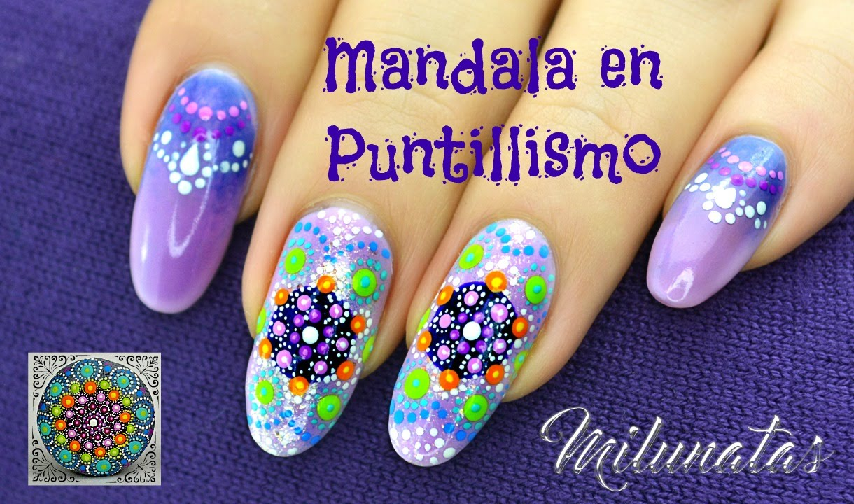 Decoracion Unas Mandala Puntillismo Nailart Mandala With Dots