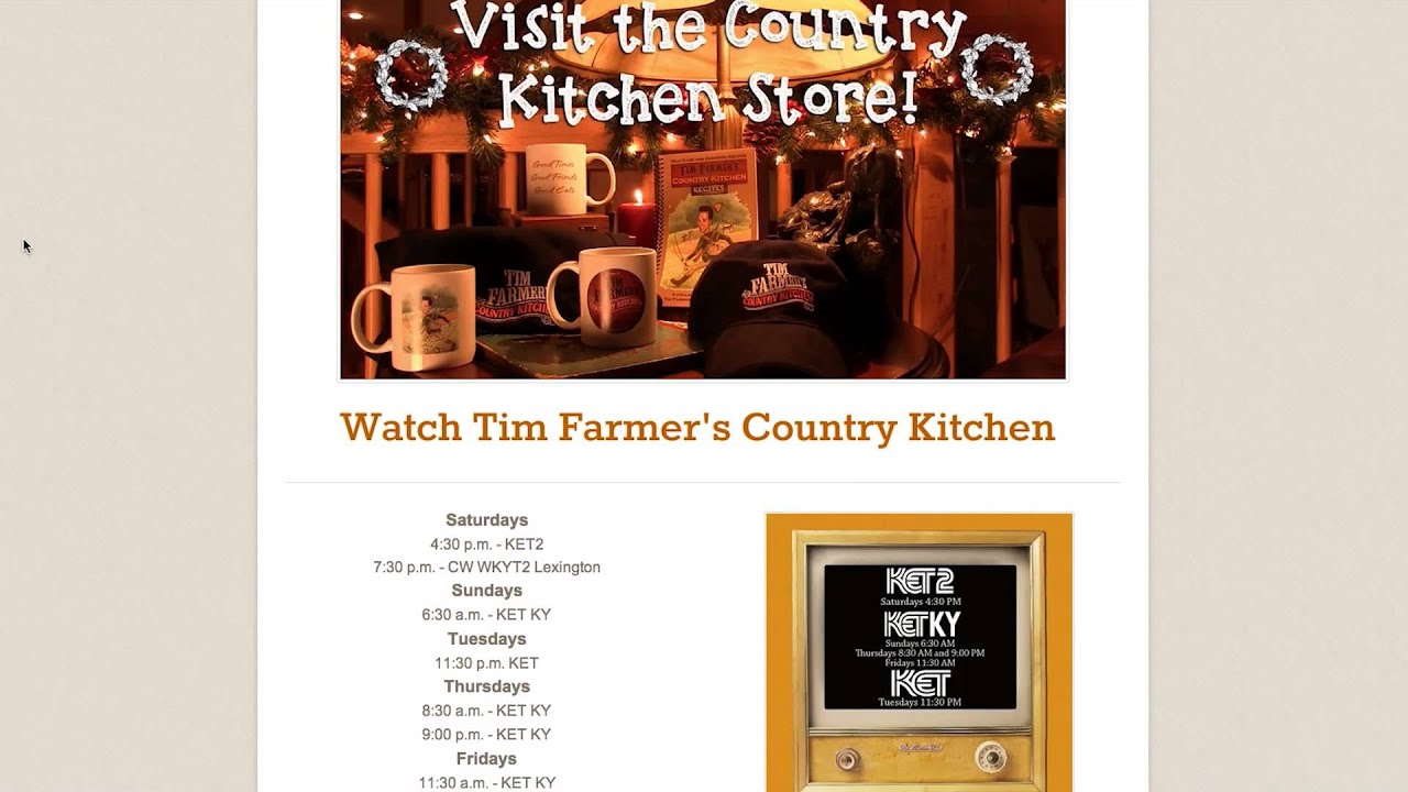 Tim Farmer Country Kitchen Youtube