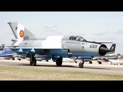 ROMANIAN AIR FORCE MiG-21MF LANCER RARE DISPLAY!