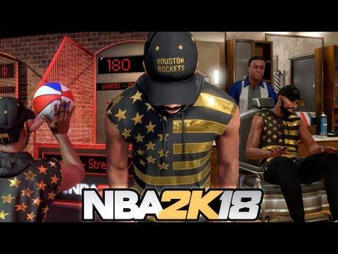 NBA 2K18 MY CAREER - EXPLORING THE NEIGHBORHOOD! Mini Basketball, Barbershop, Foot Locker & More