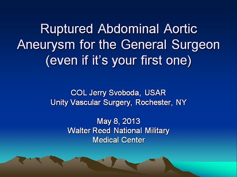Ruptured Abdominal Aortic Aneurysm for the General Surgeon