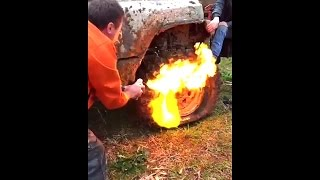 how to stretch or full fill an off road tire with wd40