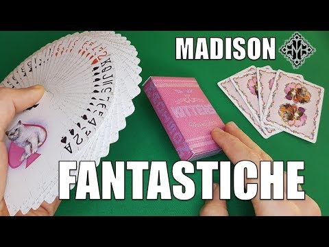 LE CARTE MIGLIORI PER LA CARTOMAGIA: MADISON KITTENS Playing Cards