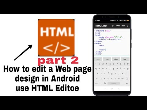 How To Design In Web Page For HTML Editor And Notepad Plus Plus.