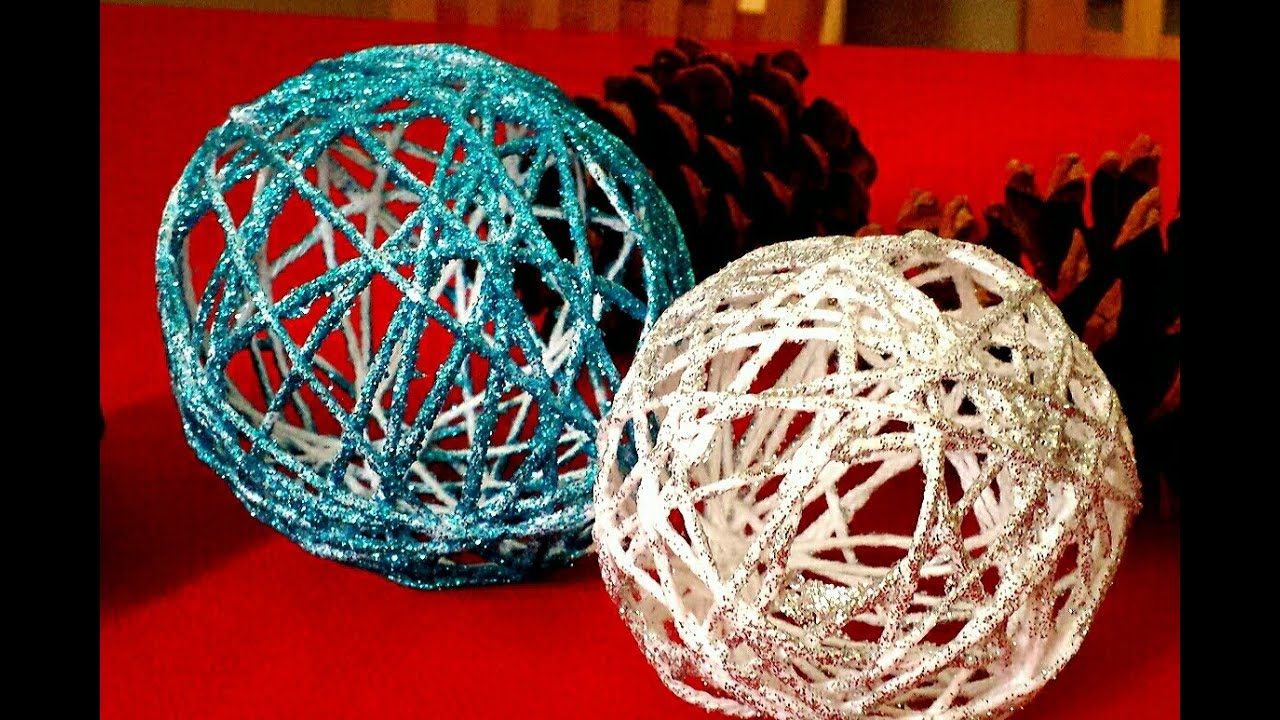 how to make yarn ornaments diy string ornaments youtube. Black Bedroom Furniture Sets. Home Design Ideas