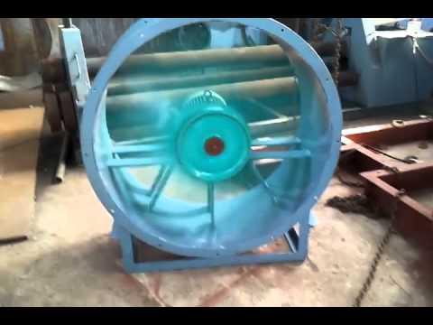Осевой вентилятор в корпусе с фланцами