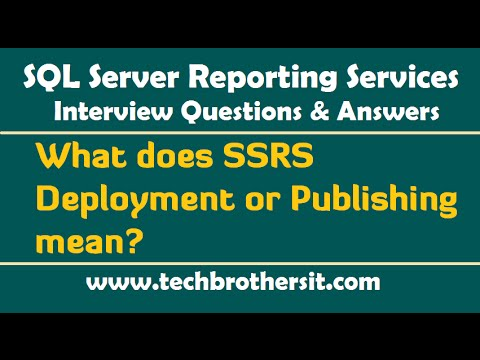 Welcome To TechBrothersIT: SSRS Interview Questions and Answers