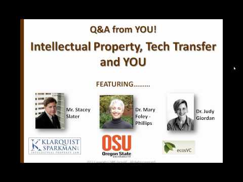 CSMC Innovation Webinar: Intellectual Property, Tech Transfer and YOU
