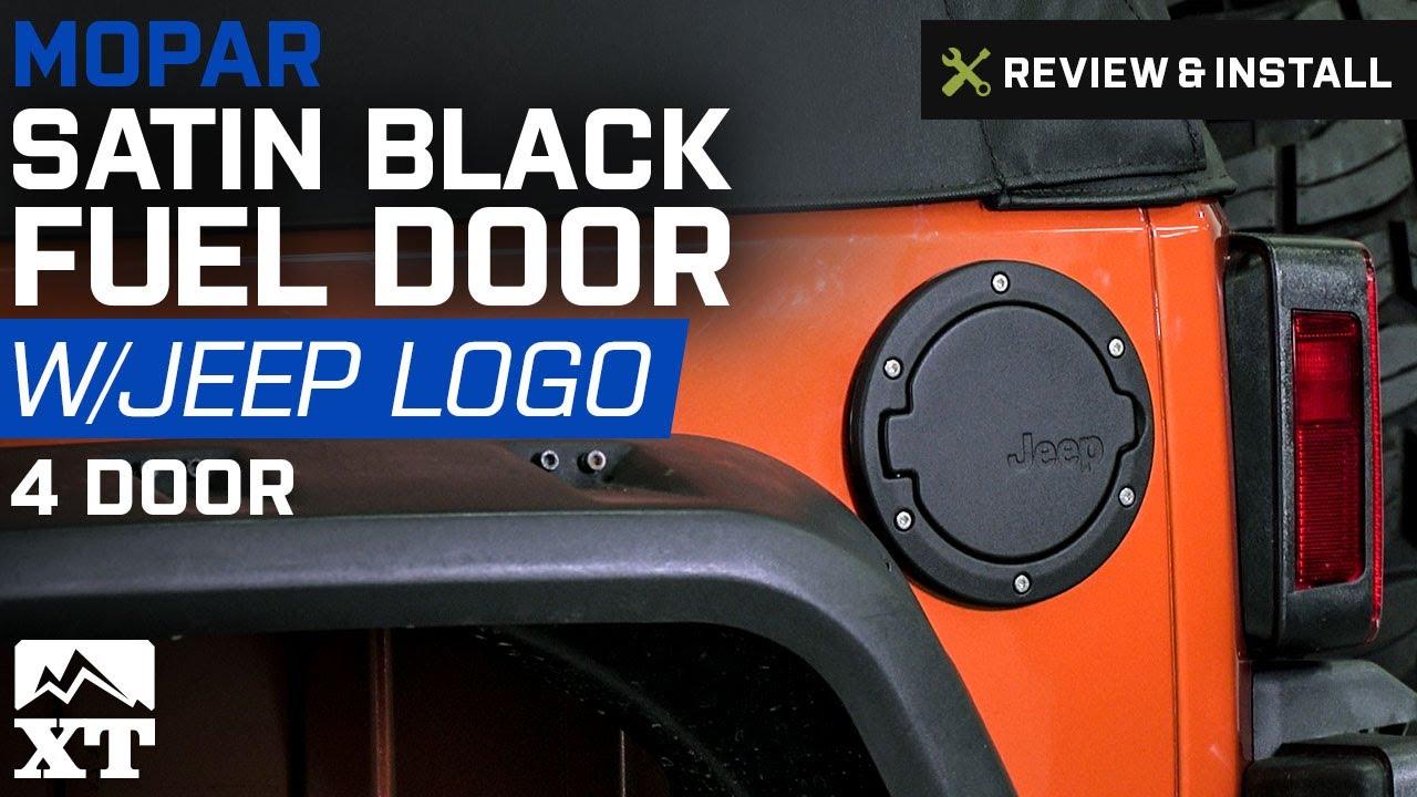 Jeep Wrangler Mopar Satin Black Fuel Door 2007 2017 Jk 4 Door Review Install Youtube