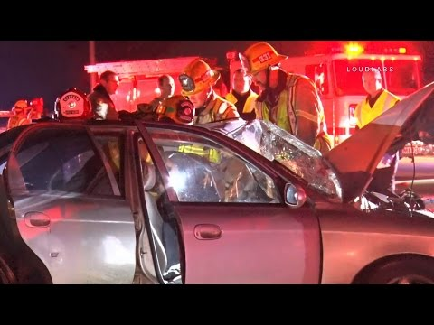 Mass Casualty Traffic Collision / Apple Valley   RAW FOOTAGE