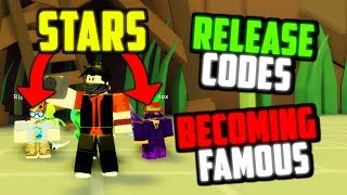 NEW SIMULATOR GAME, RELEASE CODES IN ROBLOX FAME SIMULATOR