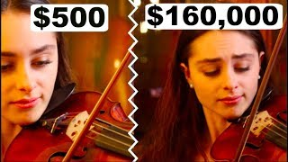 cheap violin sound