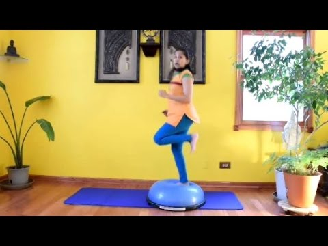BOSU Exercises for Core and Lower Body Strength with Vidya Nahar - Daily Pilates 21