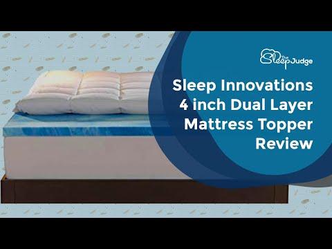 sleep-innovations-4-inch-dual-layer-mattress-topper-review---gel-memory-foam-and-plush-fiber