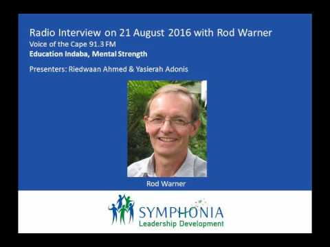 Voice of the Cape Radio Interview, 21 Aug 2016: Rod Warner: Education Indaba