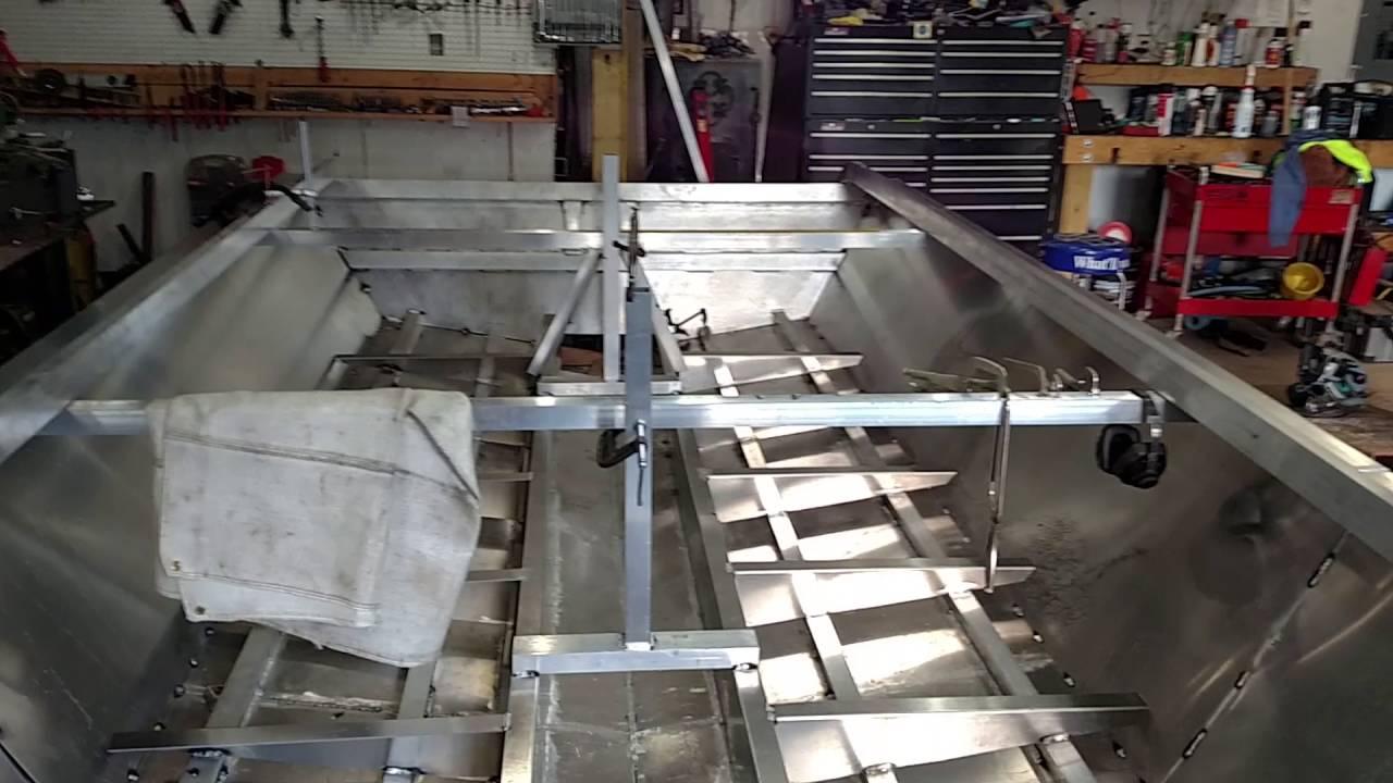 Homemade aluminum jet boat #2 - YouTube