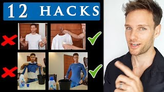 12 CLOTHING HACKS FOR MEN |  Cool clothing tips and tricks