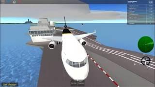 Landing a Douglas MD-11 on the HMS Queen Elizabeth in roblox