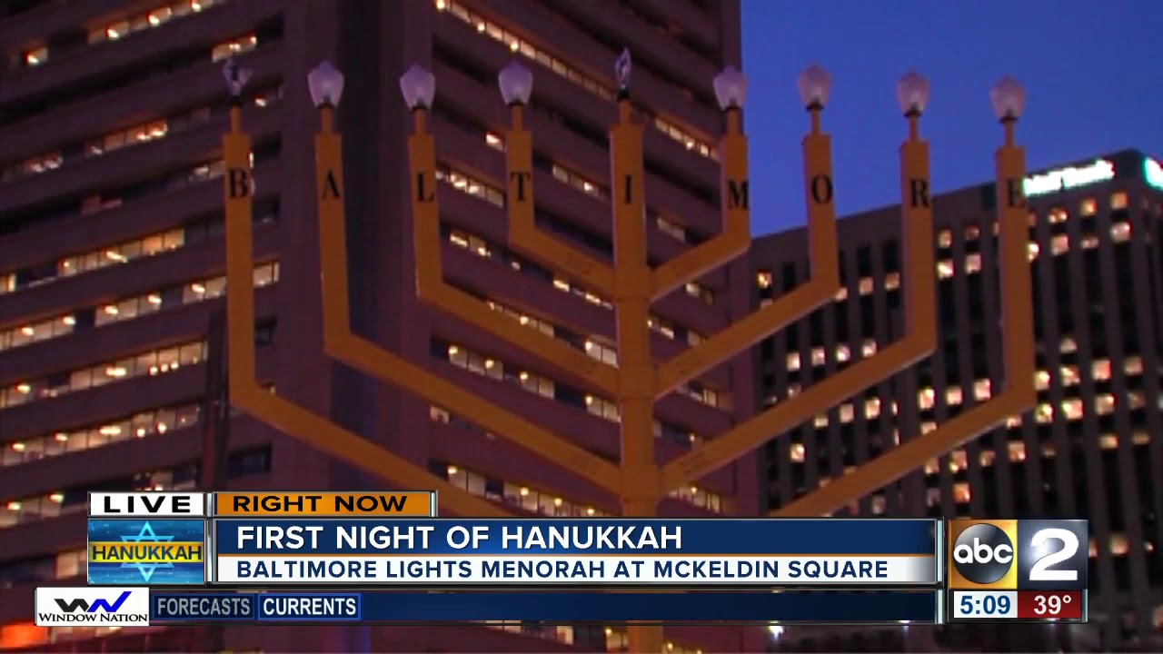 Giant menorah to light up Baltimore for first night of Chanukah