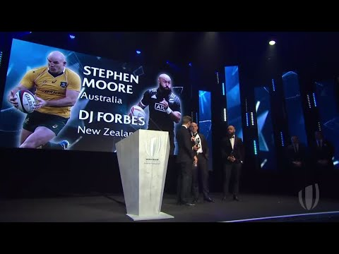 Moore and Forbes honoured at World Rugby Awards