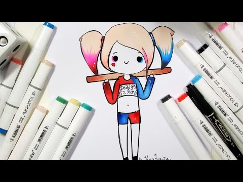 como desenhar bonequinha arlequina tumblr passo a passo youtube