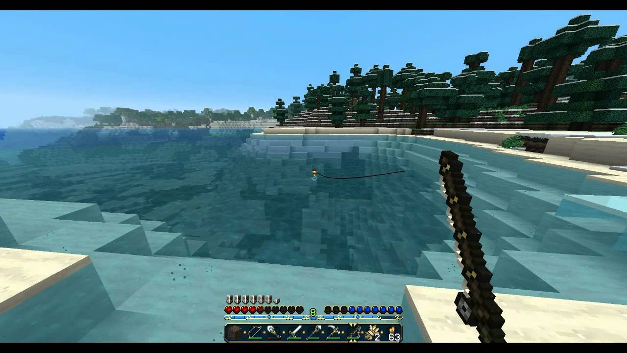 how to build a fishing rod minecraft
