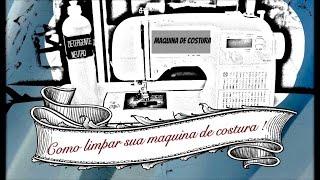 Como limpar maquina de costura domestica