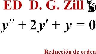 Reducción de orden. Zill 4.2_2