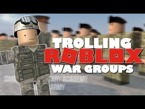 Trolling ROBLOX War Groups! [Raiding, Exploiting]