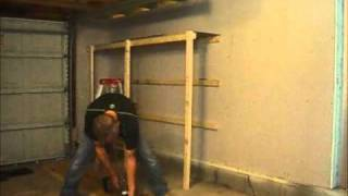 How to Build Garage Shelves - Cheaply - NormalGuyDIY