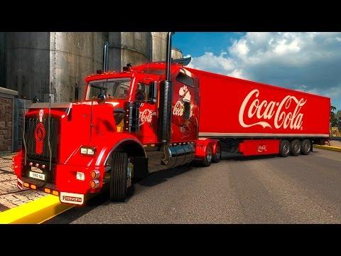 ETS2 Kenworth T800 Coca Cola de Guadalajara a Vallarta! Nos vamos a la playa Euro Truck Simulator 2