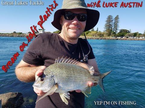 Land Based Bream Fishing With Soft Plastics