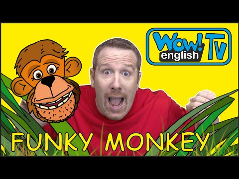 Funky Monkey Dance For Kids From Steve And Maggie | English Story On Wow English TV | Free Speaking